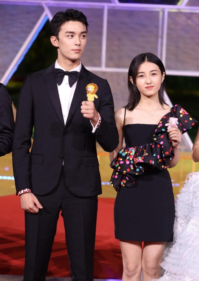 <p> Cặp sao trẻ Ngô Lỗi và Trương Tử Phong.</p>