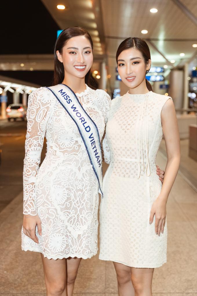 <p> Hoa hậu Đỗ Mỹ Linh là đàn chị thân thiết với Lương Thùy Linh. Từng tham gia Miss World 2017 nên cô có nhiều kinh nghiệm để chia sẻ với đàn em.</p>