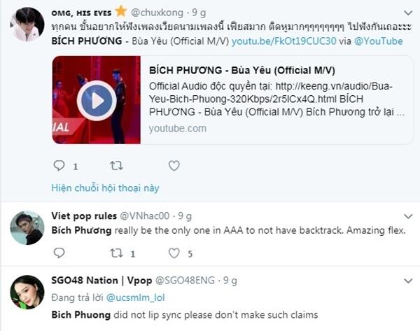 Fan quốc tế tìm kiếm Bích Phương sau màn đu đưa tại AAA