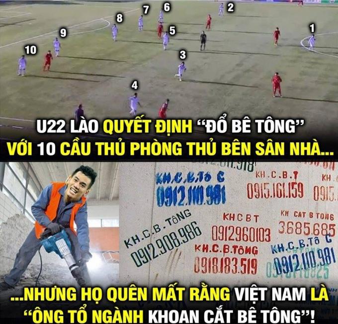 <p> Chiến lược thi đấu của U22 Lào xem ra không phát huy tác dụng khi đối mặt với U22 Việt Nam.</p>