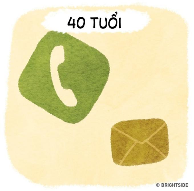 <p> 40 tuổi ta chỉ cần gọi điện, biết nhắn tin là đủ.</p>