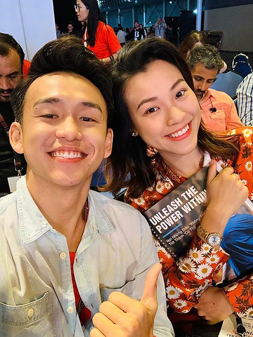 Quang Bảo và Hoang Oanh thân nhau từ ngày đi học.