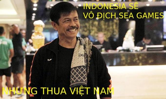 """<p> Phát biểu của HLVSjafri trước trận được fan khui lại. """"Indonesia sẽ vô địch SEA Games 30... nhưng lại thua Việt Nam"""".</p>"""