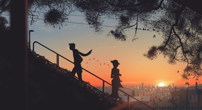 <p> Tình yêu còn là cảm giác luyến tiếc, bịn rịn mỗi lần phải chào tạm biệt.</p>