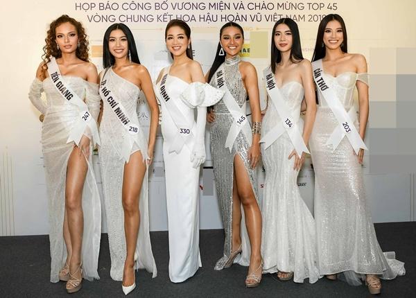 Ngọc Tuyền, Thúy Vân, Quỳnh Trang, Thu Trang, Ý Như và Kim Duyên. Cô gái xuất sắc nhất sẽ được HHen Niê trao vương miện vào tối 7/12 và có cơ hội dự thi Miss Universe 2020.