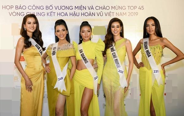 Từ trái qua là Hương Ly, Minh Tâm, Bích Tuyền, Khánh Vân, Hoàng Phương.