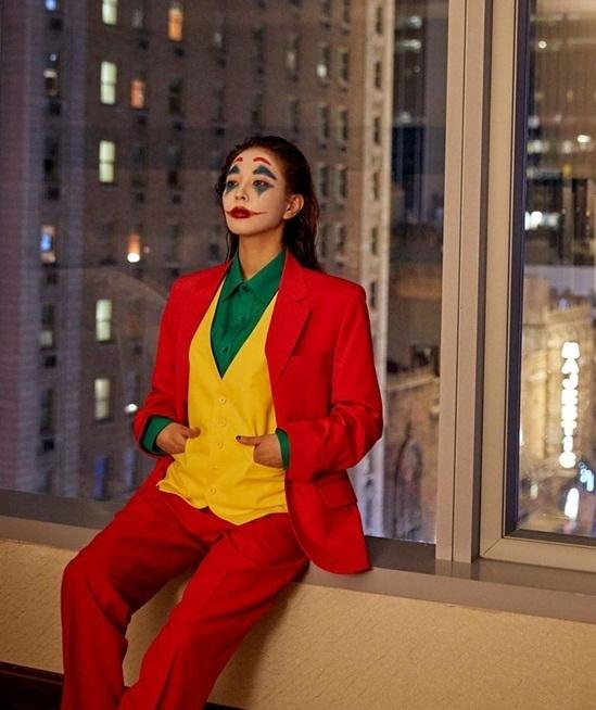 BoA cá tính khi hóa trang thành Joker - nhân vật cô yêu thích.