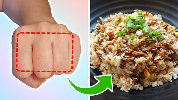 Đo lượng thức ăn cần tiêu thụ trên một bàn tay - 3