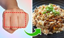 Đo lượng thức ăn cần nạp vào cơ thể chỉ bằng bàn tay