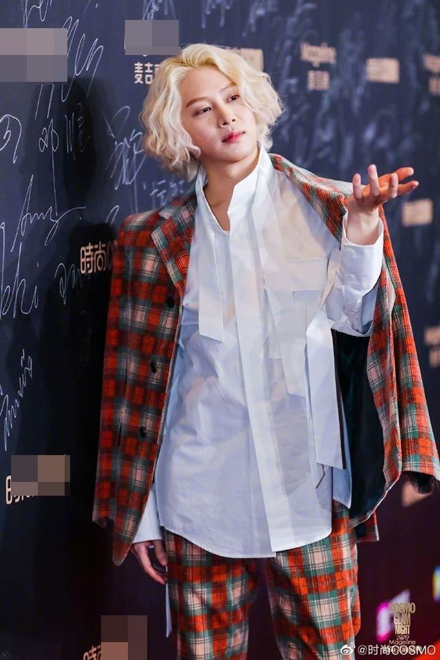 <p> Kim Hee Chul luôn biết cách thể hiện cá tính ''không đụng hàng''.</p>