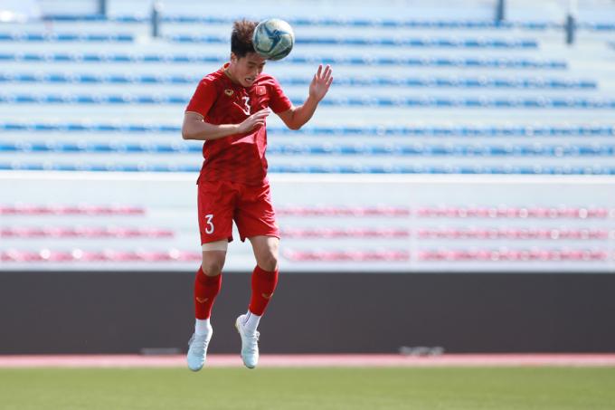 <p> Huỳnh Tấn Sinh là trụ cột nơi hàng thủ Việt Nam dự SEA Games 30. Anh bị đau trong trận đấu với Lào, nhưng đã hồi phục, sẵn sàng trở lại thi đấu.</p>