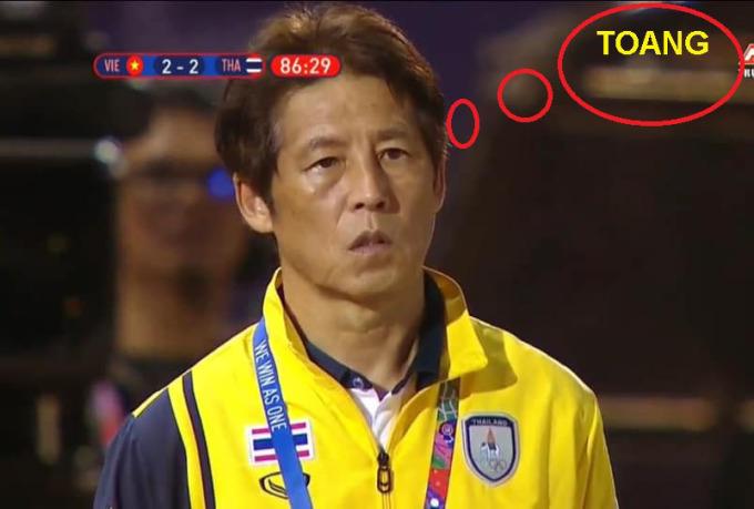 <p> Hình ảnh HLV U22 Thái Lan - ông Akira Nishino - thất thần sau trận đấu.</p>
