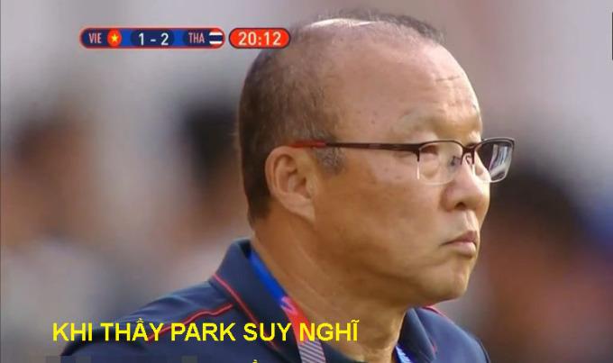 <p> HLV Park sốt ruột.</p>