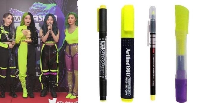 Bức ảnh so sánh giữa Mamamoo và 4 cây bút gây bão diễn đàn Instiz. Netizen gật gù trước sự ví von sống động, chính xác về trang phục mà Mamamoo diện trên sân khấu MAMA.