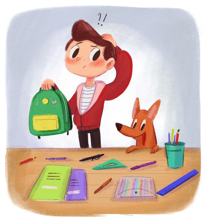 <p> Ngày nào cũng phải soạn sách vở đến lớp nhưng ngày nào cũng quên đồ ở nhà.</p>
