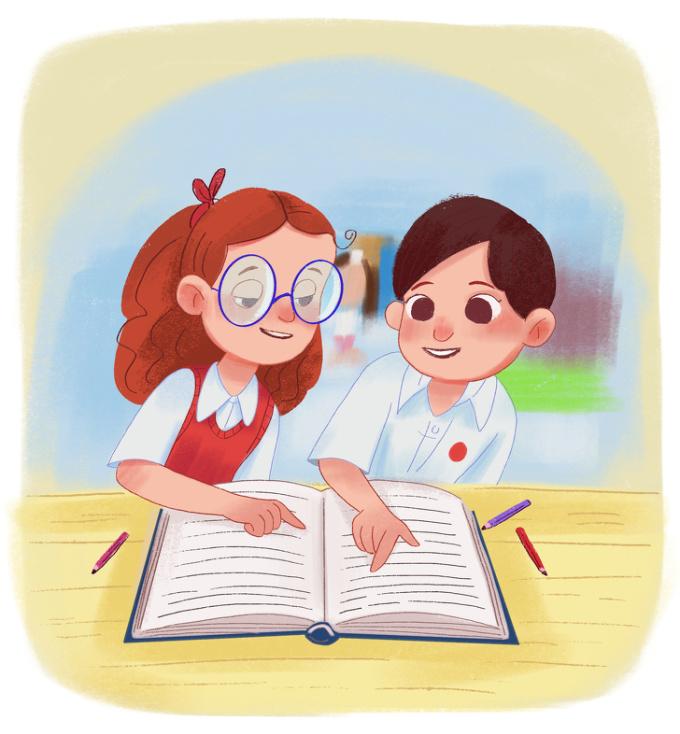 <p> Rồi những lần bạn bè cùng nhau học tập...</p>