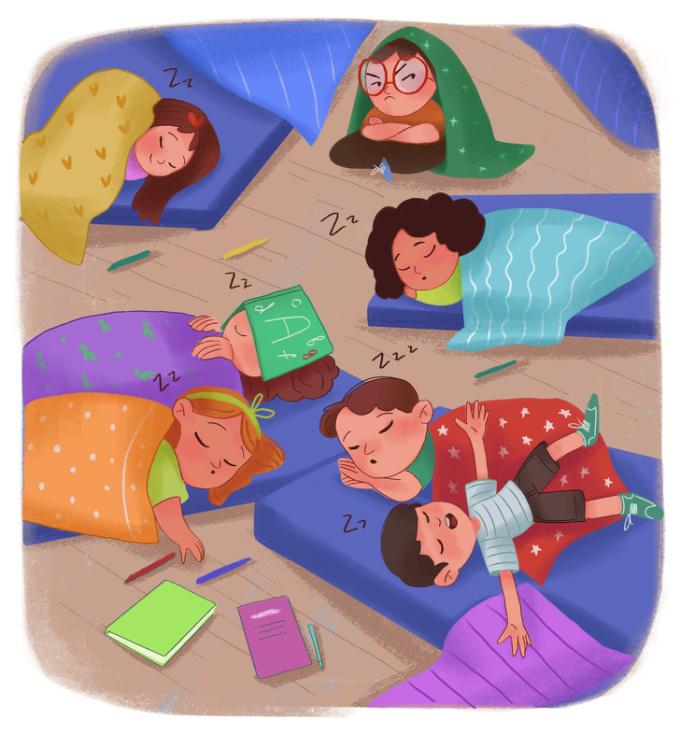 """<p> Và rồi những lần đến nhà nhau làm bài tập luôn biến thành các cuộc trò chuyện thâu đêm hoặc cả lũ """"ngủ quay tròn"""" đến khi về.</p>"""