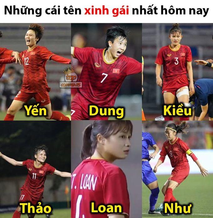 """<p> Những """"nàng thơ"""" của tuyển Việt Nam.</p>"""