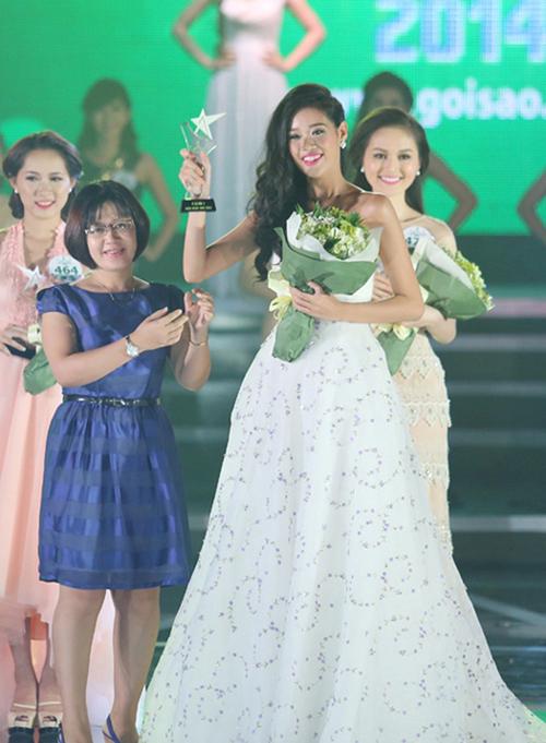 Một năm sau đó, Khánh Vân thử sức ở cuộc thi Miss Ngôi sao 2014. Người đẹp đoạt thành tích chung cuộc là Á khôi 2. Ở thời điểm này, Khánh Vân đã ít nhiều có kinh nghiệm làm người mẫu, catwalk nên thần thái cũng trưởng thành hơn hẳn.