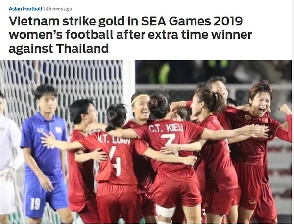 Fox Sports viết về chiến thắng của tuyển nữ Việt Nam.
