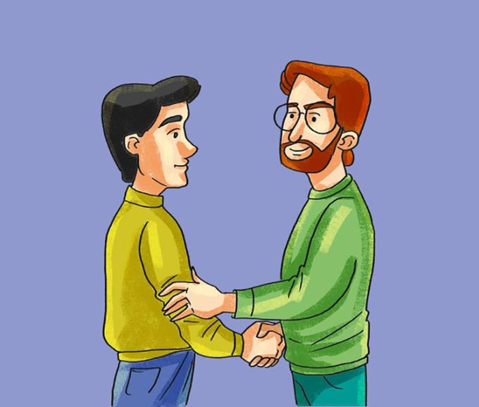 <p> <strong>14. Bắt tay với một cú chạm</strong><br /> Ngoài bắt tay, nhiều người còn chạm tay vào người khác. Họ có thể chạm vào cẳng tay, khuỷu tay hoặc lưng của người khác nhằm thể hiện sự thân thiện trong giao tiếp.</p>