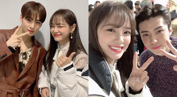 Kim Se Jeong khiến nhiều fan nữ ghen tỵ khi khoe ảnh cùng Cha Eun Woo, Se Hun trong hậu trường show âm nhạc.