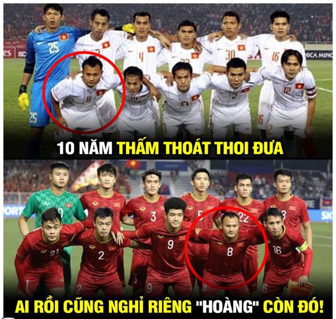 <p> Đội hình Việt Nam 10 năm trước và bây giờ</p>