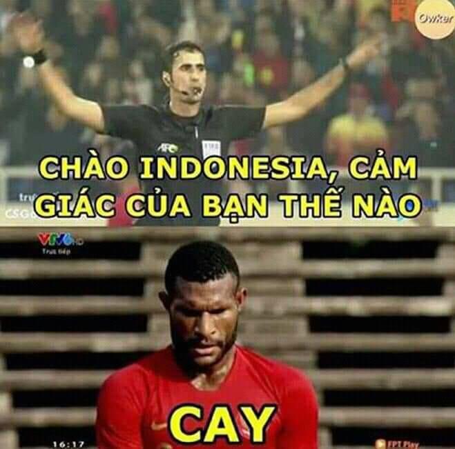 <p> Tâm trạng tuyển thủ Indonesia lúc này.</p>