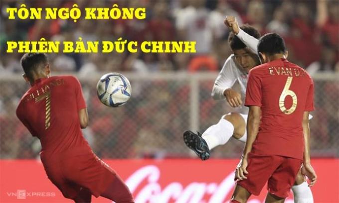 <p> Hà Đức Chinh có cú vuốt bóng cực đẹp.</p>