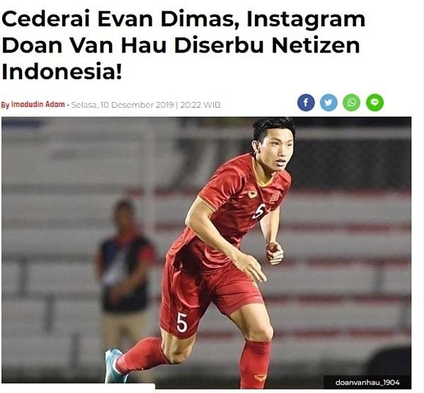Báo Indonesia viết về tình huống khiến Đoàn Văn Hậu bị CĐV nước này phản ứng.