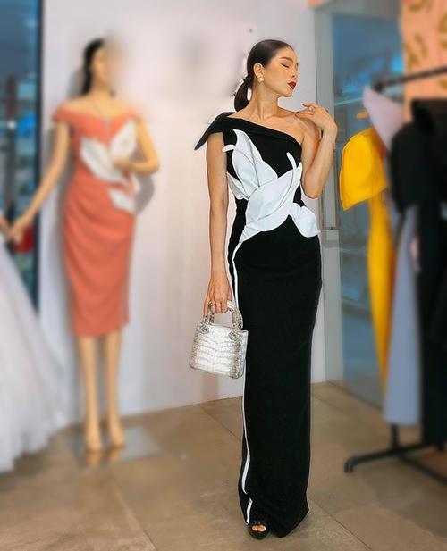 Trong những lần xuất hiện gần đây, Lệ Quyên thường xách chiếc túi Lady Dior cũng được làm từ da cá sấu Himalaya siêu hiếm. Tương tự các dòng da cá sấu bạch tạng khác, mẫu túi limited này chỉ có thể đặt riêng.