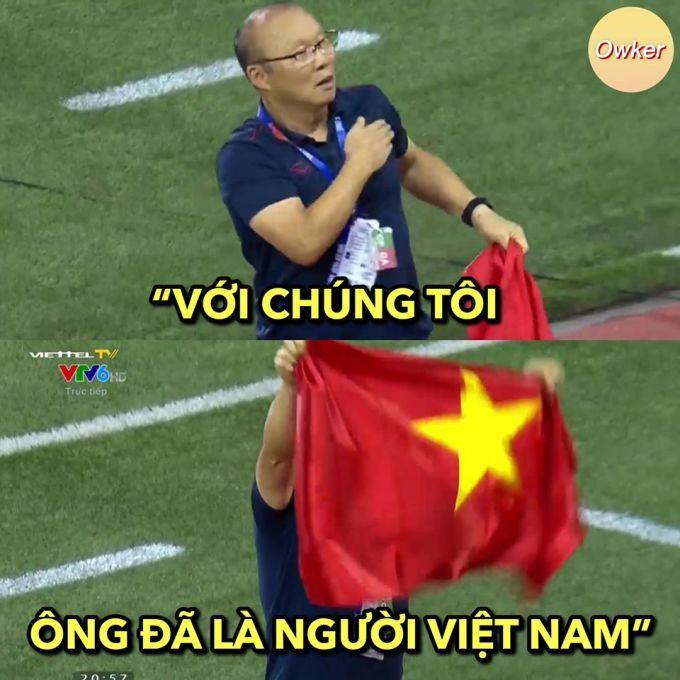 <p> CĐV Việt Nam gửi lời cảm ơn đến người làm thay đổi lịch sử bóng đá nước nhà.</p>