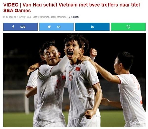 Tờ thể thao Hà Lan nói về màn trình diễn của Văn Hậu.