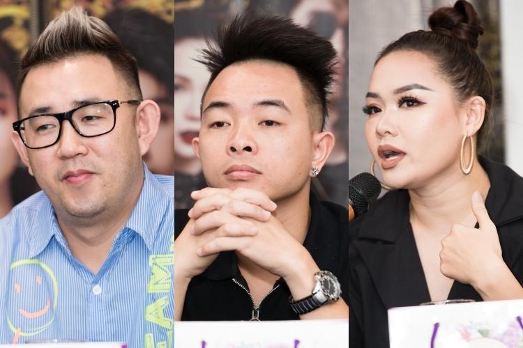 Liveshow có sự hỗ trợ của đạo diễn sân khấu Vân Trình, đạo diễn âm nhạc Phúc Bồ, Tổng biên đạo Huỳnh Mến (từ trái qua). Liveshow Truyền thái y sẽ diễn ra vào tối 19/12 tại TP HCM.