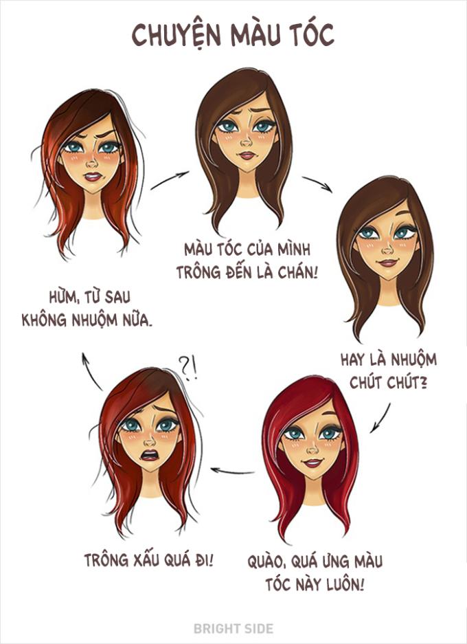 <p> Nhiều bạn gái thích nhuộm tóc sáng màu, nhưng khi chân tóc đen mọc lên lại thấy hối hận.</p>
