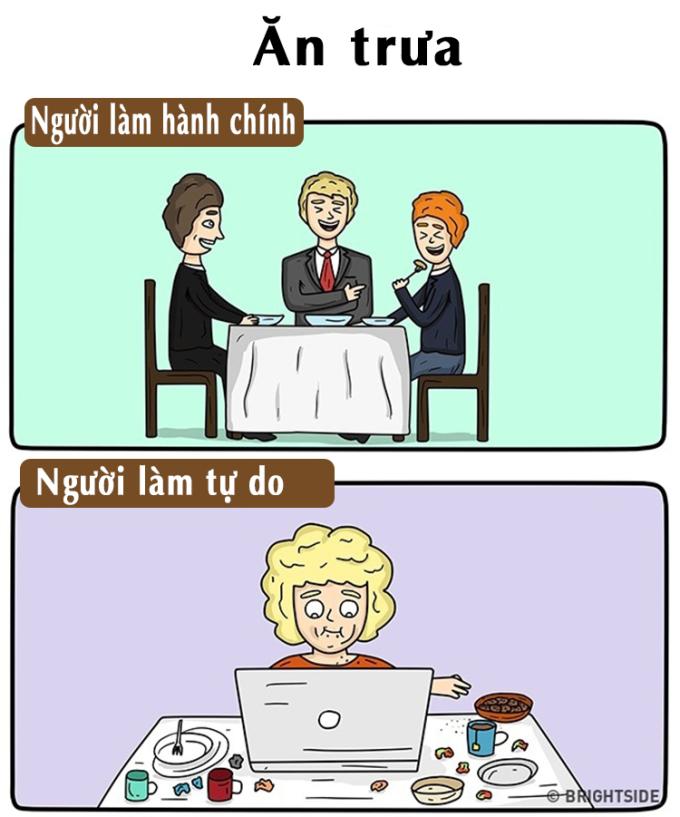 <p> ... hay những lần ăn cơm trưa, trò chuyện, thậm chí là nói xấu sếp cùng đồng nghiệp.</p>