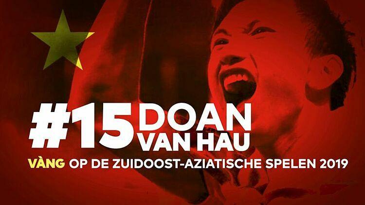 CLB SC Heerenveen đăng tải poster chúc mừng Văn Hậu và Việt Nam.