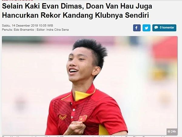 Báo Indonesia mỉa mai Văn Hậu mang xui xẻo cho SC Heerenveen