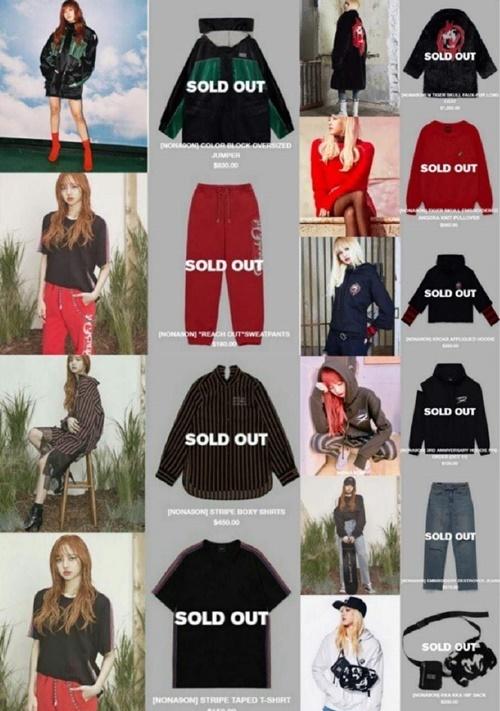Lisa sở hữu khả năng sold-out thần thánh trong giới nữ idol. Hàng loạt nhãn hàng thời trang, mỹ phẩm, tạp chí..., đều sold-out khi gắn mác Lisa.