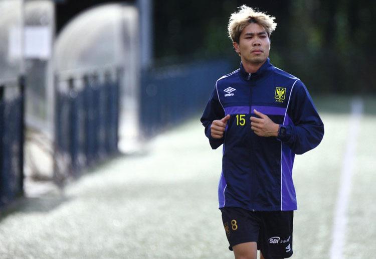 Công Phượng khoác áo số 15 tại đội bóng Bỉ.