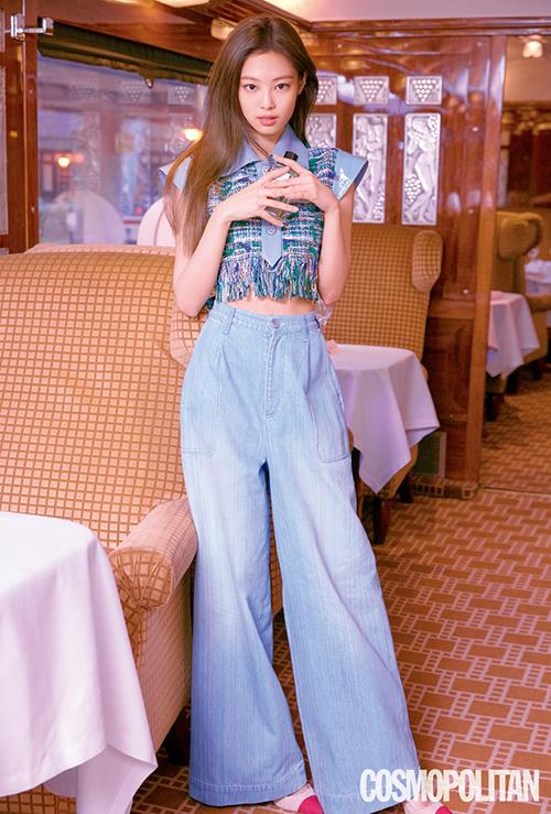 Trong năm 2019, quần denim ống rộng là một item được ưa chuộng tại Hàn Quốc.
