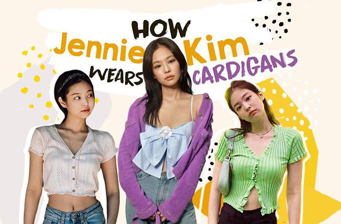 Item được Jennie lăng xê tích cực nhất năm nay là cardigan. Cô nàng diện liên tiếp từ hè sang đông với nhiều cách phối thú vị. Trong đó, nữ idol tạo xu hướng với những lối mặc cardigan khoe vóc dáng khéo léo.