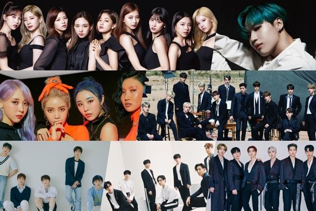 Những nhóm nhạc hàng đầu Kpop tại MBC Gayo Daejejun.