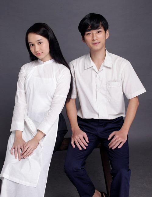 Diễn viên Trúc Anh và Trần Nghĩa.