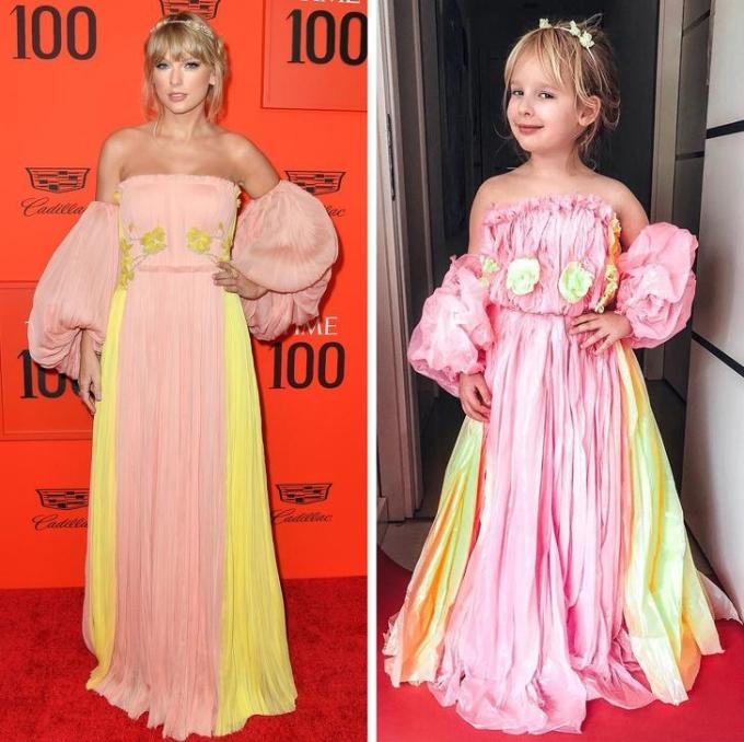 <p> Stefani cosplay Taylor Swift.</p>