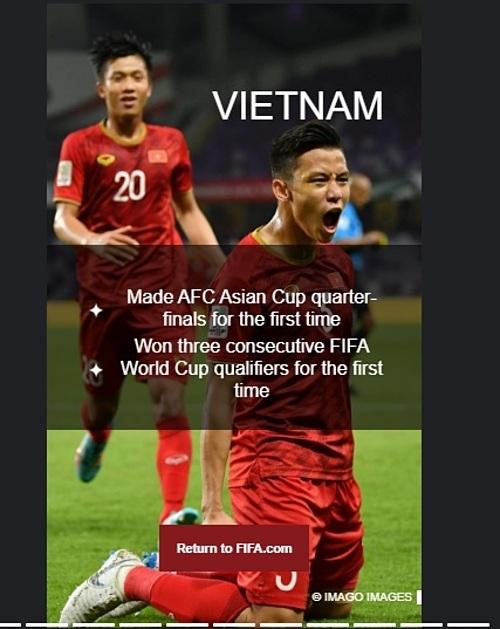 FIFA nhắc về dấu ấn của Việt Nam trong năm 2019.