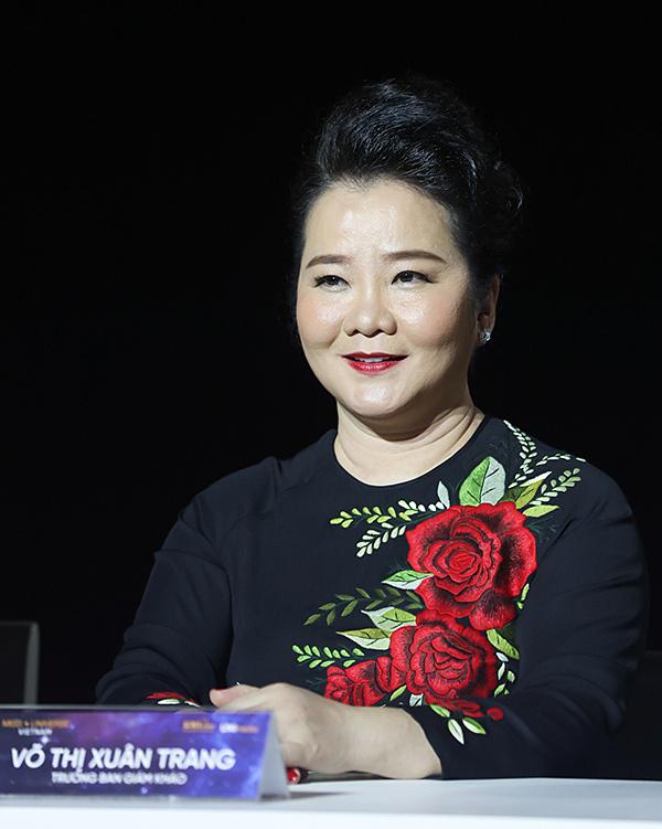 Bà Võ Thị Xuân Trang - Trưởng ban giám khảo.