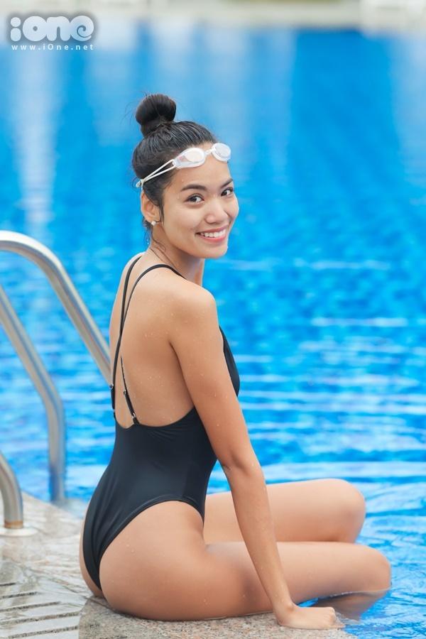 Hoàng Phương tự tin 100% vào bản thân. Cô hy vọng có mặt trong top 3 để có cơ hội tham dự phần thi ứng xử và tranh vương miện.