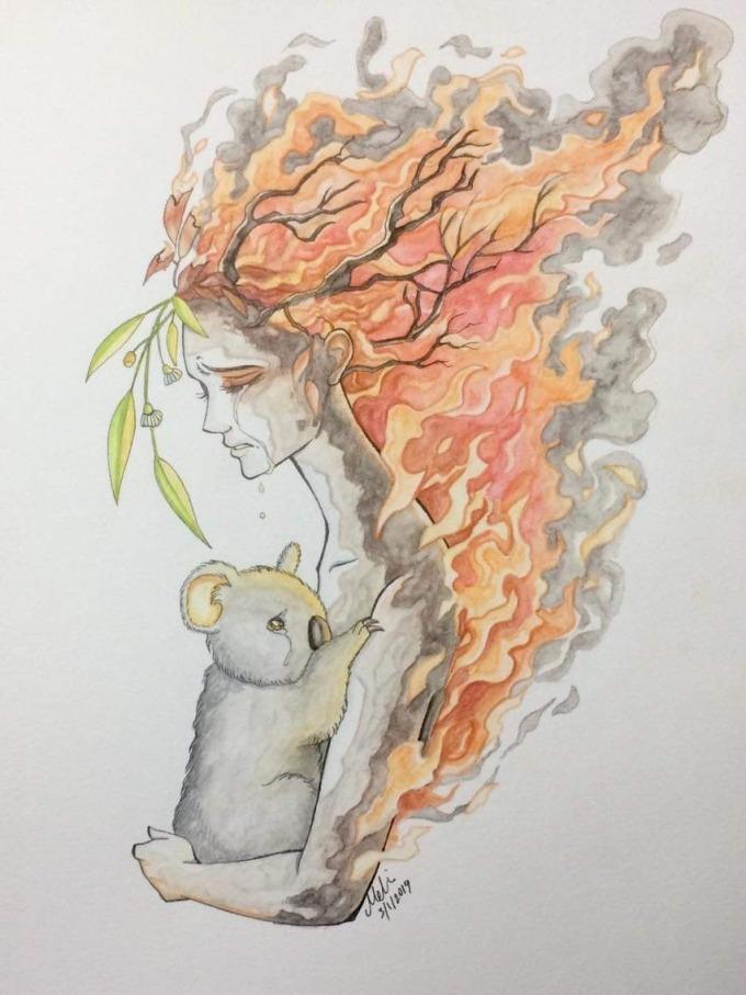<p> Những bức vẽ xúc động về thảm họa ở Australia được chia sẻ chóng mặt.</p>