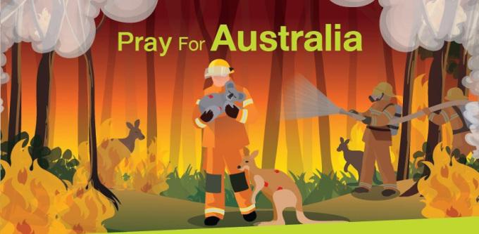 Những bức tranh cầu nguyện cho Australia